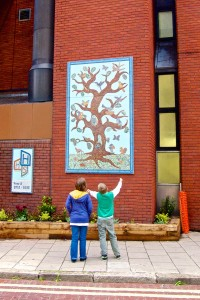 picture of the new mosaic on Mayes Road