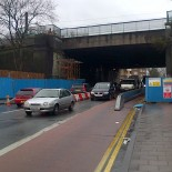 Hornsey railway bridge roadworks
