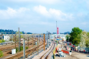The new depot as seen from Hornsey Station