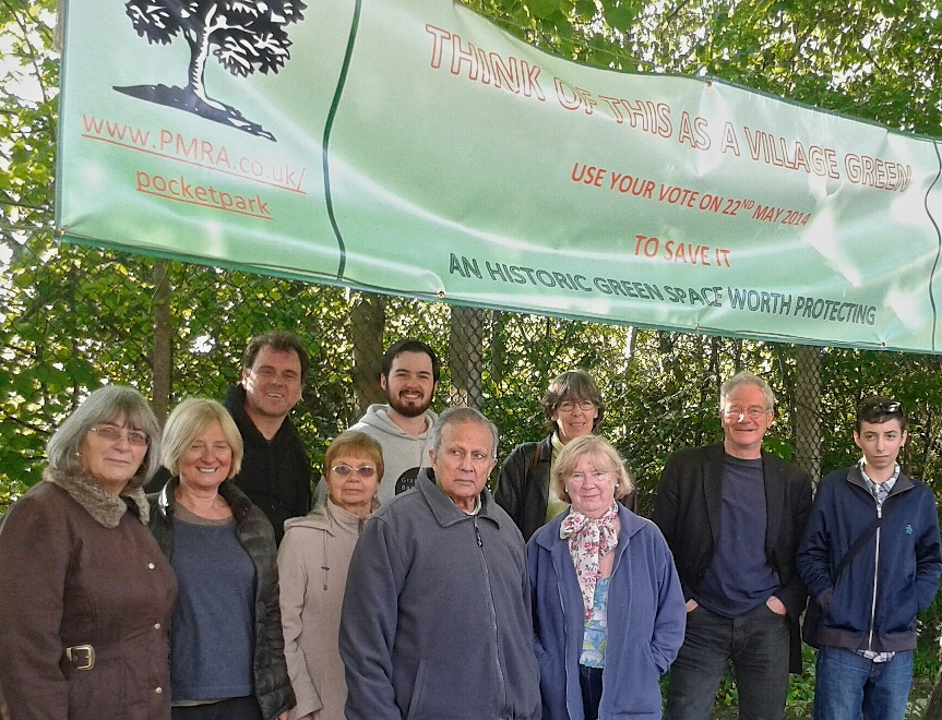 Think of this as a village green - Residents gathered to show support for the lime trees on Hornsey Park Road