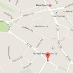 Map Mayes Rd/Hornsey Pk Rd