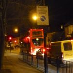 Unscheduled night bus on Hornsey Park Road
