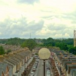 View over Hornsey Park from Sky City