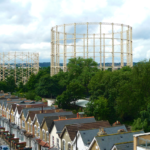 Gasholder seen from Sky City
