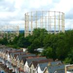 Gasholder seen from Sky City