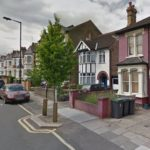 Build-out and protection for pavement trees in Hornsey Park Road