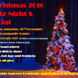 Join us for the big 2016 Christmas quiz and tombola