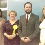 Ryan King with Catharine West ( Labour), Dawn Barnes (Lib Dem), Emma Lane (conservative)