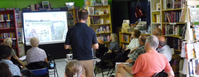 Our presentation on the Moselle at the Big Green Bookshop