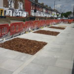 Narrower street, new tree spaces - and planters to follow in Hornsey Park Road