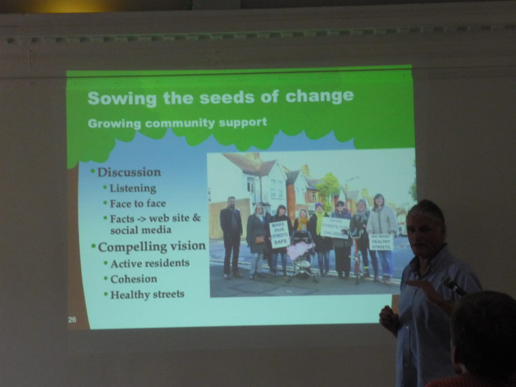 Campaigner Paul Gasson https://wesupportmh.wordpress.com/ shows his slide on 'seeds of change'